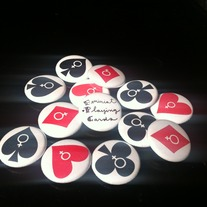 Feminist Card Suit Buttons