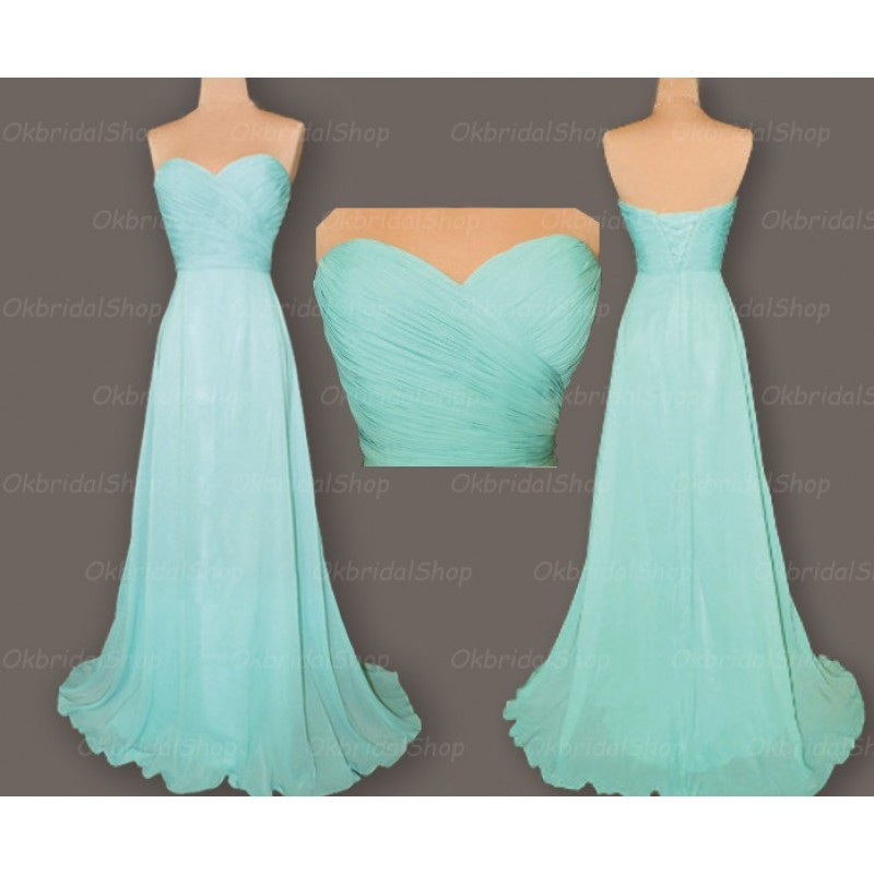 Tiffany blue bridesmaid dresses, cheap bridesmaid dresses, chiffon ...