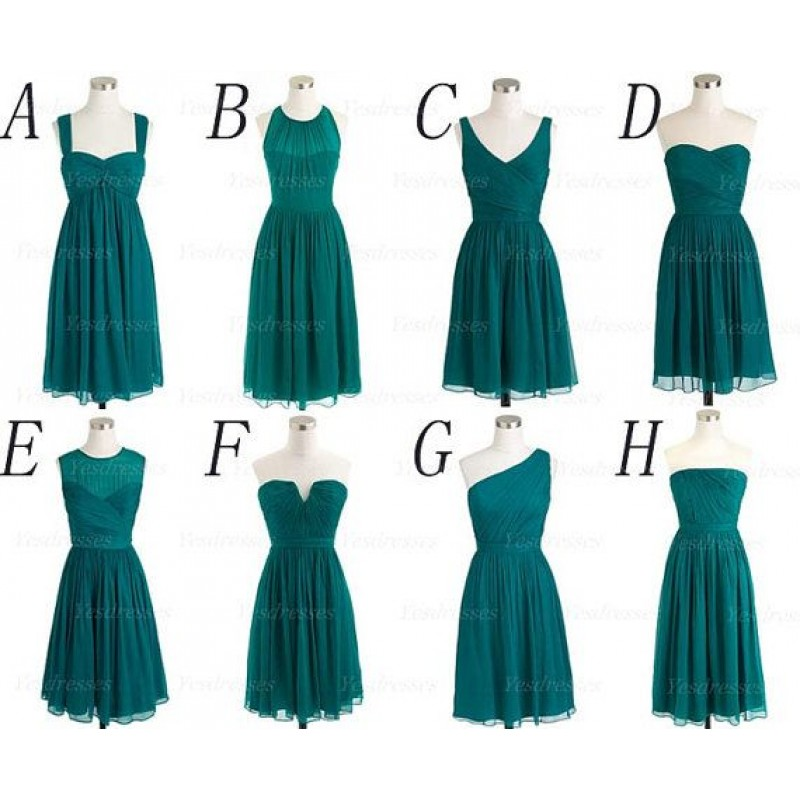 Teal bridesmaid dresses cheap bridesmaid dress prom dress ...