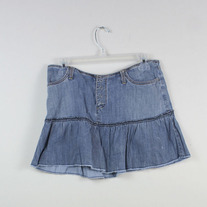 Denim Ruffle Skirt by American Eagle