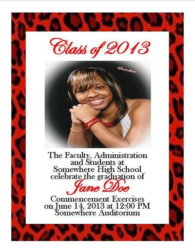 print graduation announcement