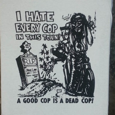 I hate every cop.. tee