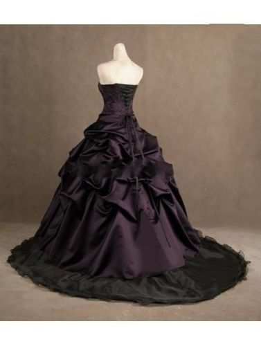 Purple Black Plus Size Wedding Dress Wendy 39 S Bridals