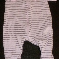 Pink/Brown Stripe Zip Sleeper-First Moments Size 3-6 Months