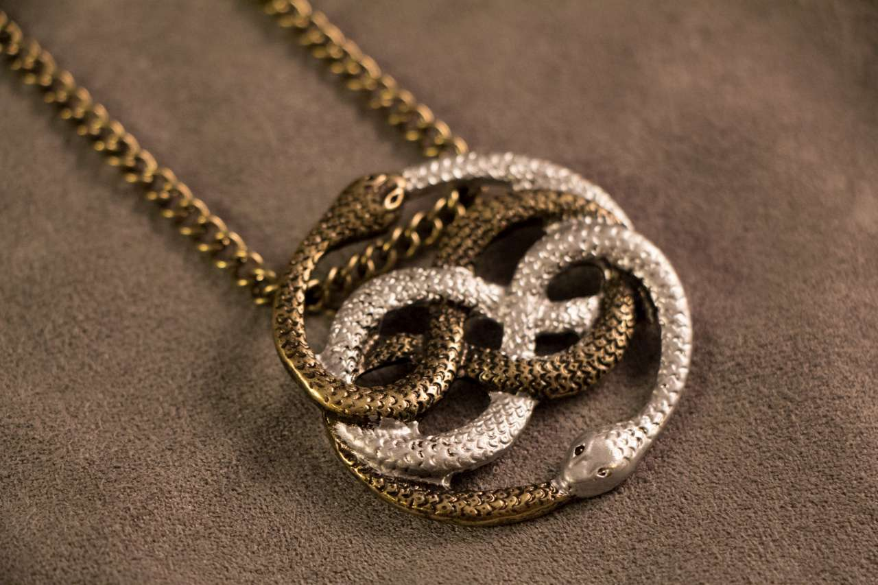 geekify neverending story auryn pendant gold and