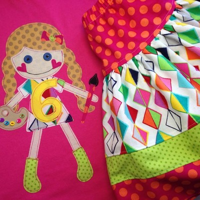 Artist doll shirt and skirt