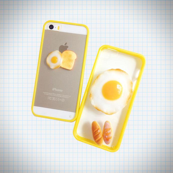 3d fried egg toast phone case ice cream cake online for Case 3d online