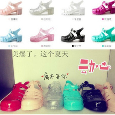 Zapatos gelatina/jelly shoes wh031