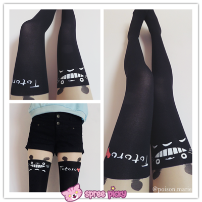 [3 for 2] fake over-the-knee stockings totoro stocking thigh socks pantyhose sp130042