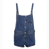 Denim shortall rompers