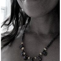 Water & Blossoms - freshwater pearl & cobalt millifiore floral glass necklace - Thumbnail 2