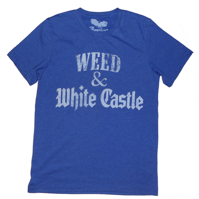 Marijuana t-shirt 'weed & white castle' by american anarchy brand