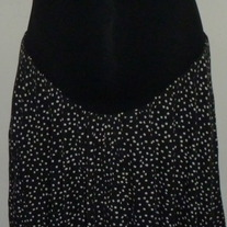 Black Skirt with White Dots-Motherhood Maternity Size Large  CL413
