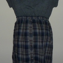 Gray/Blue Plaid Dress-Motherhood Maternity Size Medium  CL413