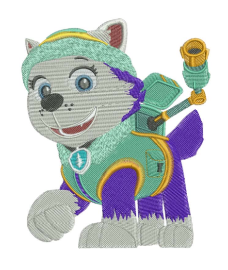 Paw Patrol Everest Filled Machine Embroidery Designs In 2 Sizes On Storenvy