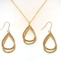 Double Pear Shaped Crystal Set