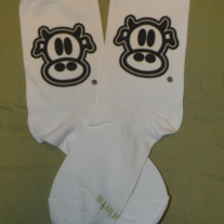 MAD COW LOGO CREW SOCKS