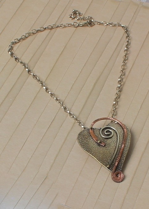 Heart Art Chain Necklace