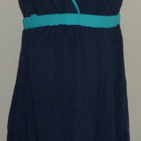 Navy/Turquoise Dress-NEW-Motherhood Maternity Size Medium  GS513