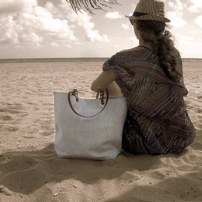 Metallic Linen Tote Bag, Beach Bag · Independent Reign · Online ...