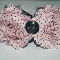 """French Poodle"" shabby sass headband"