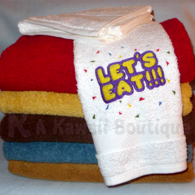 Let's Eat!!! Hand towel