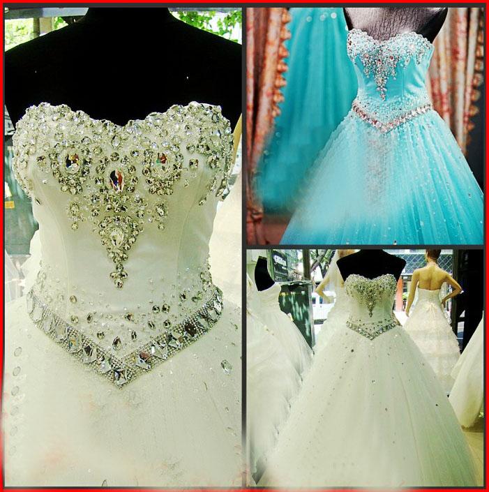 YZ New Arrival Gorgeous Luxurious Swarovski Crystals Bridal Wedding ...