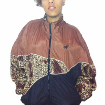 Women's Leopard Patterned Windbreaker