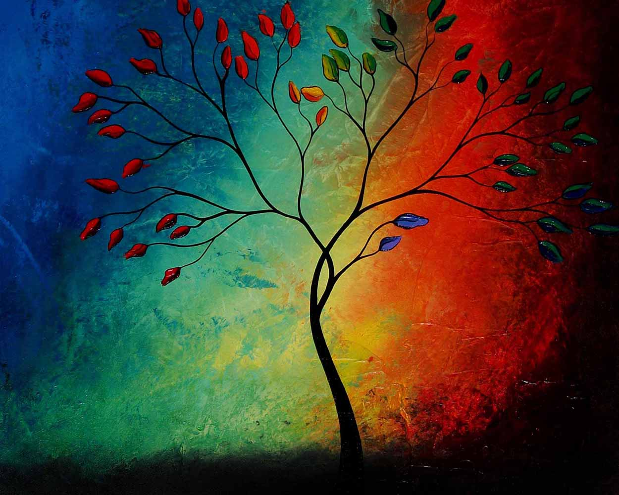 The Promise Tree by Jaime Best - Abstract Landscape Canvas Print ...