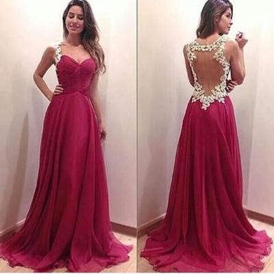 Pink prom dress,Sweetheart prom dress,Open Back prom dress,White ...