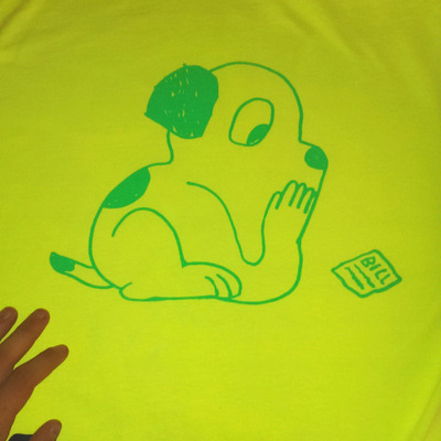 Glow in the dark worry pup tee