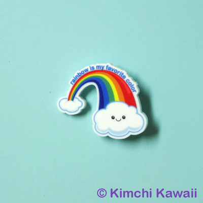 Rainbow Acrylic Pin