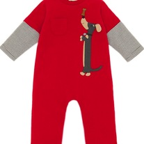Le Top Dachshund Coverall Red, Garnet