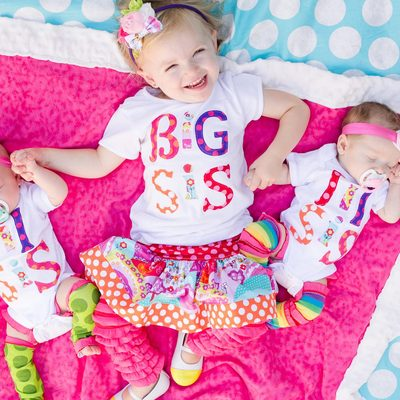 Big, lil, or baby sis shirt and skirt set