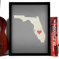 Image of Florida State LOVE, Giclee Art Print, 8 x 10 inches