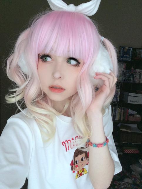 Kawaii Pastel Strawberry Lemonade Wig On Storenvy