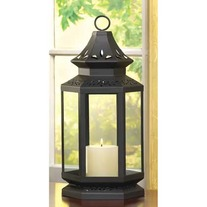 #13363 Large Black Stagecoach Lantern