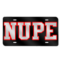 NUPE License Plate (Black)