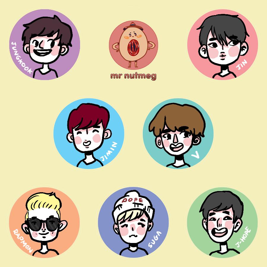 Sticker collection - Bts Sticker Pack 183 Mr Nutmeg 183 Online Store Powered By