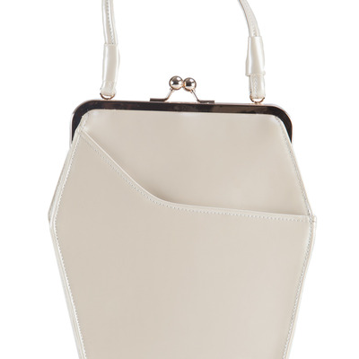 """to die for"" purse - pearl"