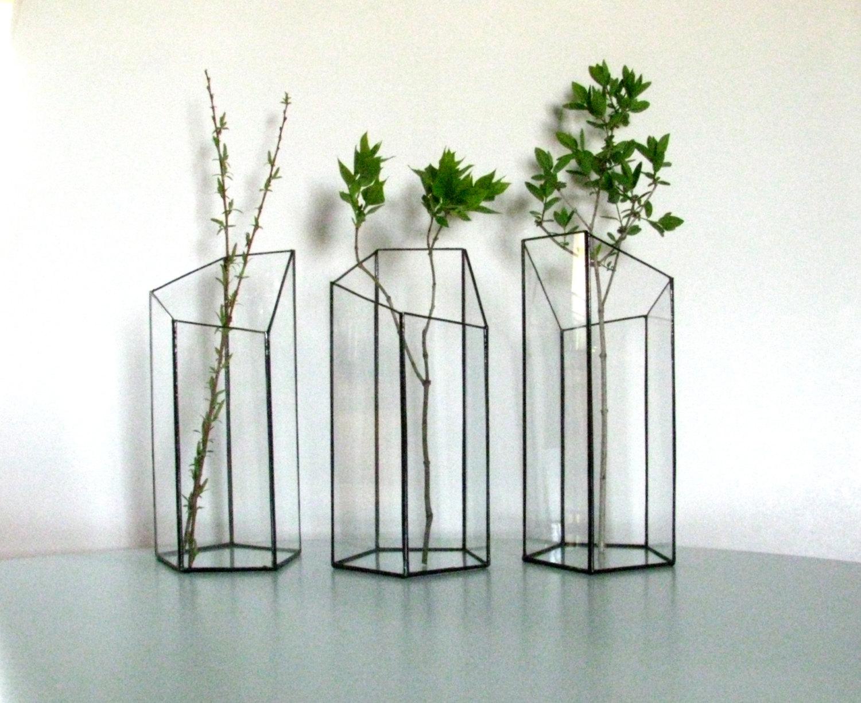 Set of three vases vase minimalist glass vase geometric vase set of three vases vase minimalist glass vase geometric vase glass planter reviewsmspy
