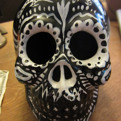 Black day of the dead skull