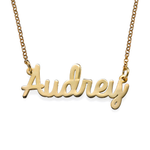 Cursive Name Necklace Gold Tone Allmonogram Com Online Store