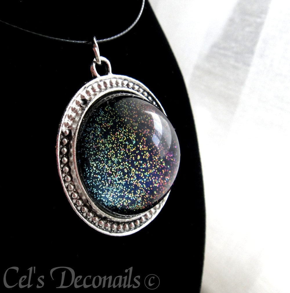 Dark glitter gothic pendant statement necklace celdeconail dark glitter gothic pendant statement necklace thumbnail 2 aloadofball Gallery