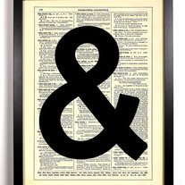 Image of Classic Ampersand, Vintage Dictionary Print, 8 x 10