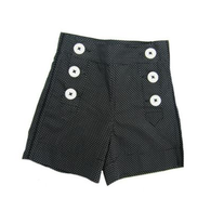 Hula Mula Dot.com Shorts Black/White sz 8