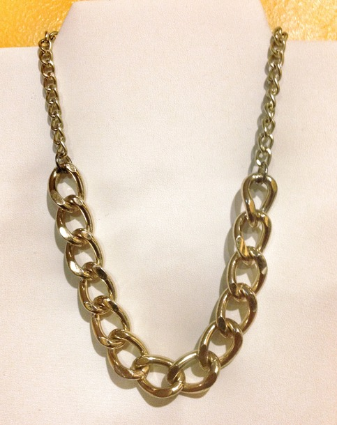 gold chain cuban link necklace 183 shop tiffona fontee