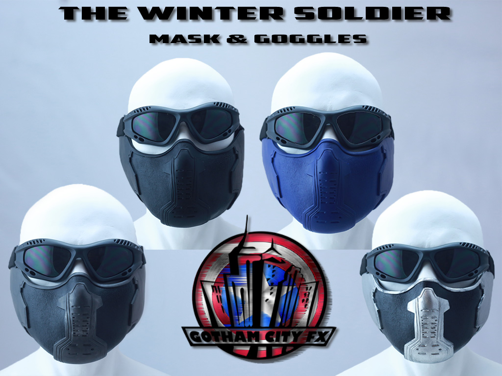 Captain America Bucky Barnes Winter Soldier Mask  Gotham City FX
