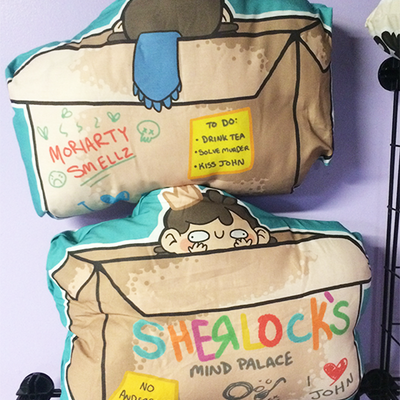 Sherlock's mind palace pillow