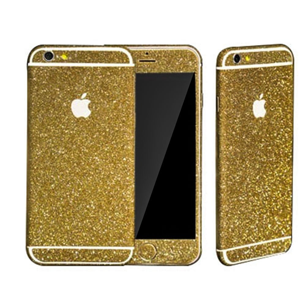 gold glitter sticker skin iphone 6 iphone 6 plus iphone 5 5s luxurious bling online store. Black Bedroom Furniture Sets. Home Design Ideas